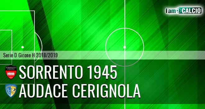 Sorrento 1945 - Audace Cerignola