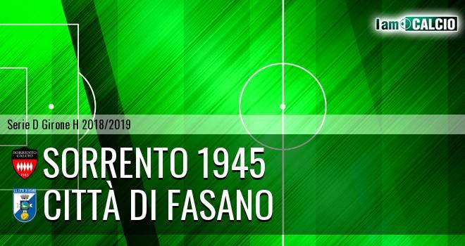 Sorrento 1945 - Città di Fasano