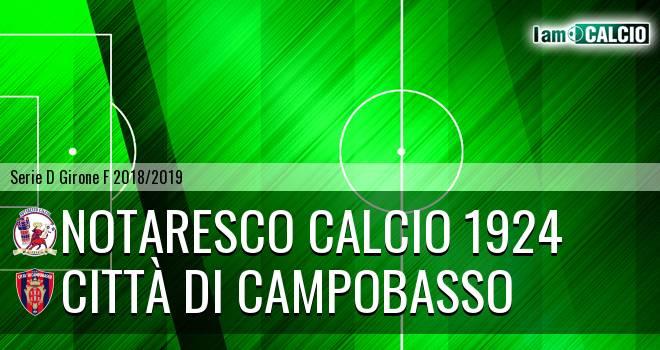San Nicolò Notaresco - Città di Campobasso 2-0. Cronaca Diretta 04/11/2018