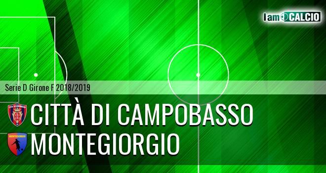 Città di Campobasso - Montegiorgio 1-1. Cronaca Diretta 11/11/2018