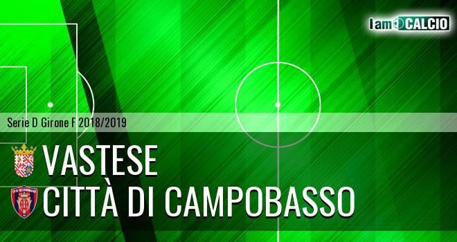 Vastese - Città di Campobasso 2-2. Cronaca Diretta 14/11/2018