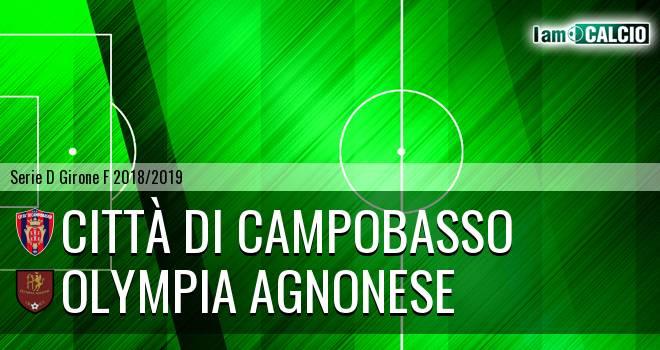 Città di Campobasso - Olympia Agnonese 2-2. Cronaca Diretta 02/12/2018