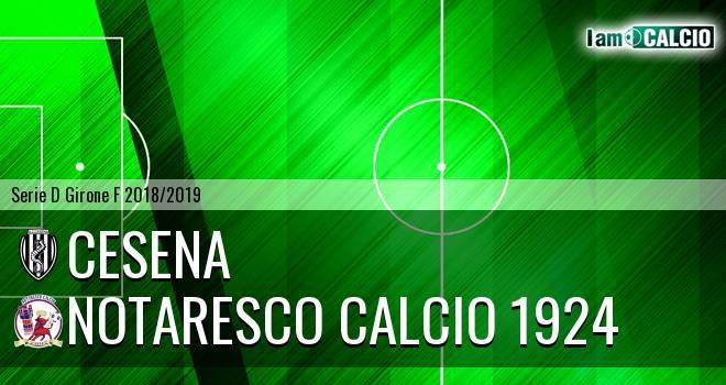Cesena - San Nicolò Notaresco 3-2. Cronaca Diretta 12/12/2018