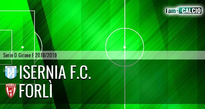 Isernia F.C. - Forlì 1-1. Cronaca Diretta 30/01/2019