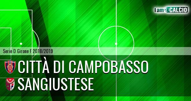Città di Campobasso - Sangiustese 3-0. Cronaca Diretta 30/01/2019