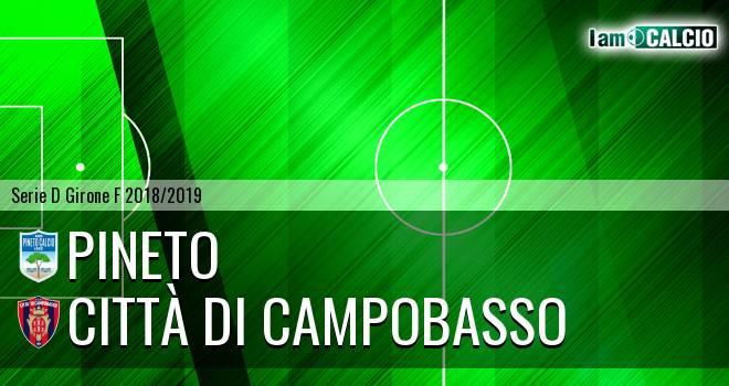 Pineto - Città di Campobasso 2-2. Cronaca Diretta 17/02/2019