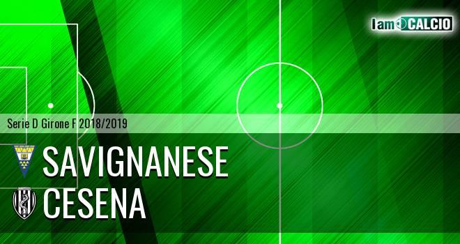 Savignanese - Cesena 1-1. Cronaca Diretta 18/03/2019