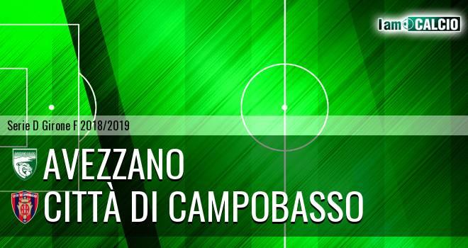 Avezzano - Città di Campobasso 0-1. Cronaca Diretta 18/04/2019