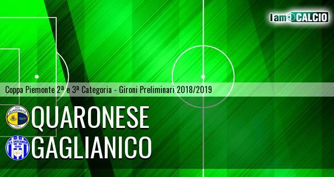 Quaronese - Gaglianico 3-2. Cronaca Diretta 15/11/2018