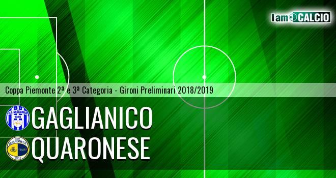 Gaglianico - Quaronese 2-1. Cronaca Diretta 27/03/2019