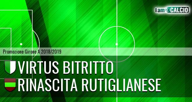 Virtus Bitritto - Rinascita Rutiglianese
