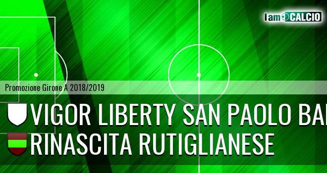 Vigor Liberty San Paolo Bari - Rinascita Rutiglianese