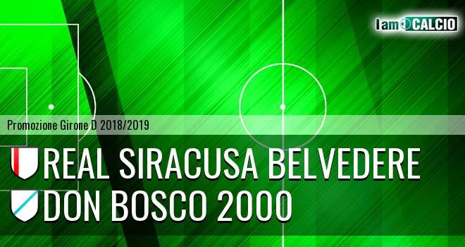 Real Siracusa Belvedere - Don Bosco 2000