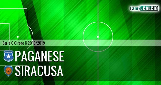 Paganese - Siracusa 1-1. Cronaca Diretta 23/01/2019