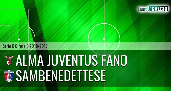 Alma Juventus Fano - Sambenedettese