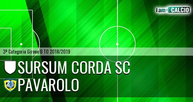 Sursum Corda SC - Pavarolo Calcio