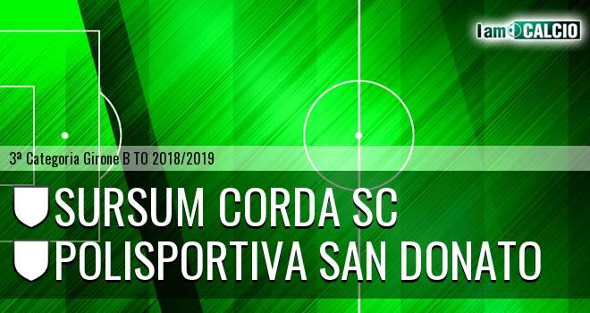 Sursum Corda SC - Polisportiva San Donato