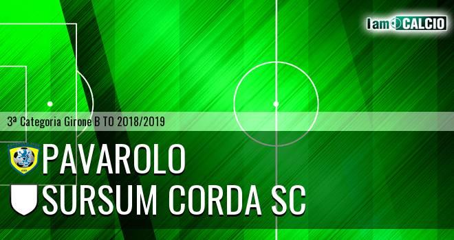 Pavarolo Calcio - Sursum Corda SC