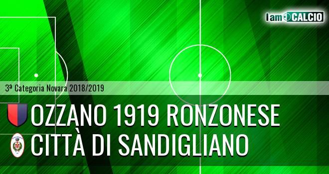 Ozzano 1919 Ronzonese - Città di Sandigliano