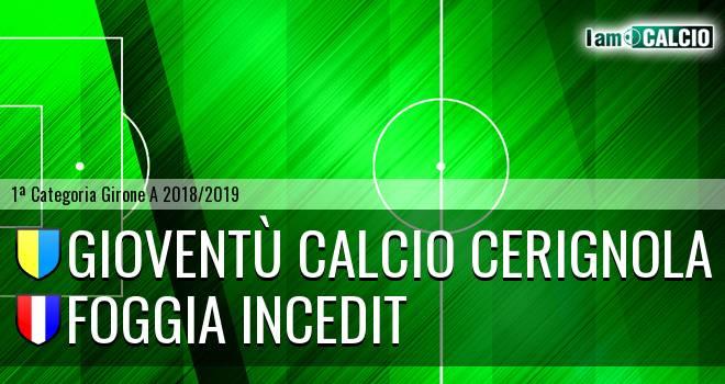 Gioventù Calcio Cerignola - Foggia Incedit