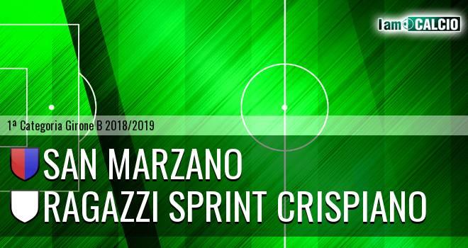 San Marzano - Ragazzi Sprint Crispiano