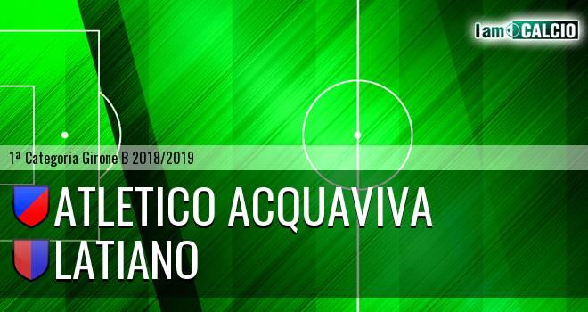 Atletico Acquaviva - Latiano