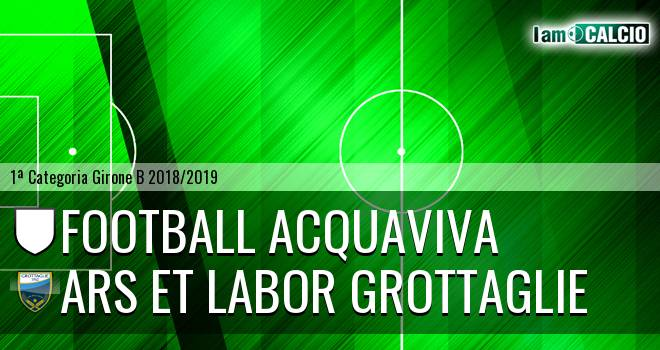 Football Acquaviva - Ars et Labor Grottaglie