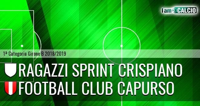 Ragazzi Sprint Crispiano - Football Club Capurso