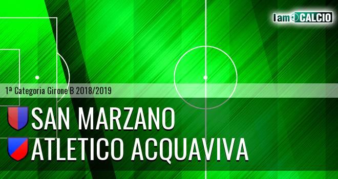 San Marzano - Atletico Acquaviva