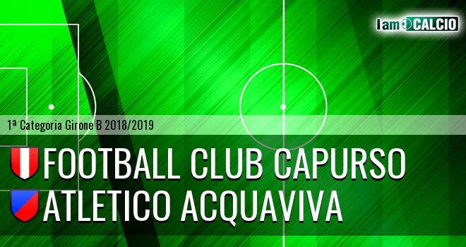 Football Club Capurso - Atletico Acquaviva