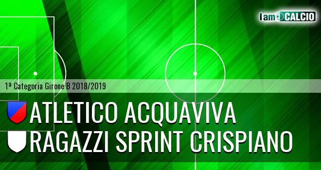 Atletico Acquaviva - Ragazzi Sprint Crispiano