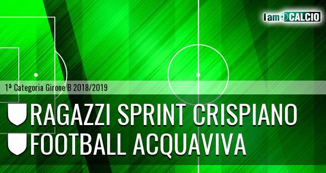 Ragazzi Sprint Crispiano - Football Acquaviva
