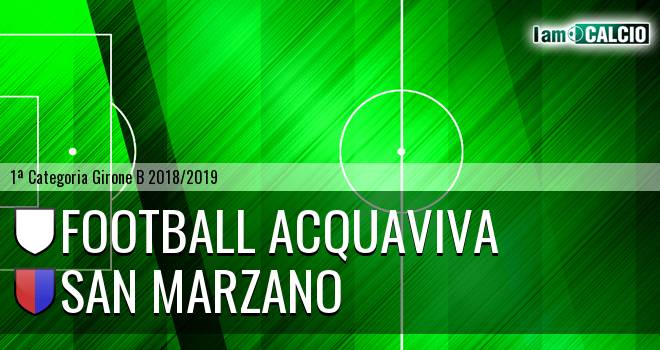 Football Acquaviva - San Marzano
