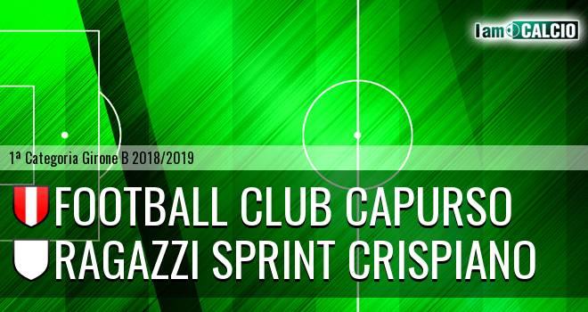 Football Club Capurso - Ragazzi Sprint Crispiano
