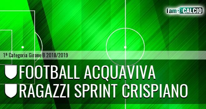 Football Acquaviva - Ragazzi Sprint Crispiano
