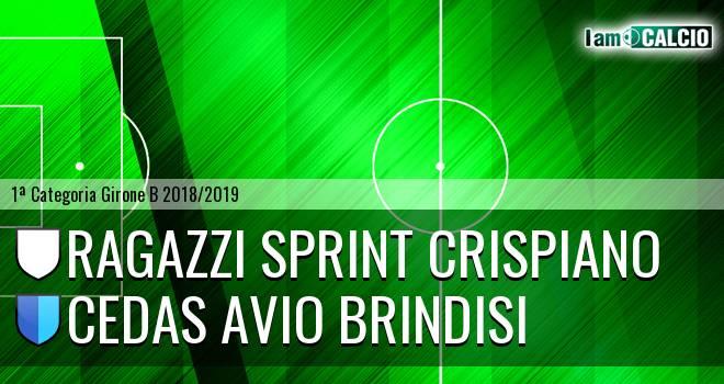 Ragazzi Sprint Crispiano - Cedas Avio Brindisi