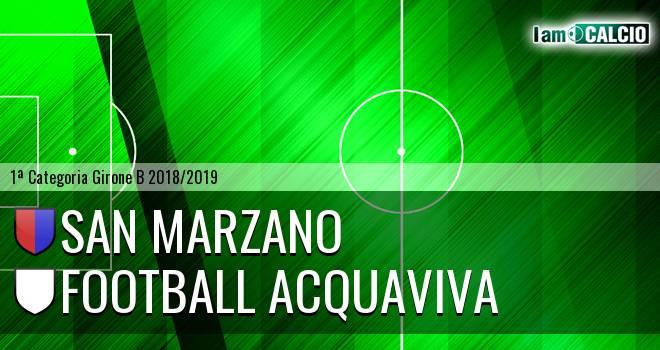 San Marzano - Football Acquaviva