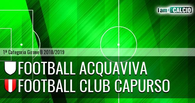 Football Acquaviva - Football Club Capurso