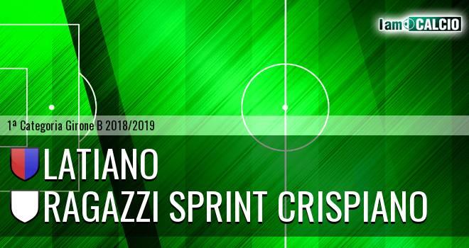 Latiano - Ragazzi Sprint Crispiano