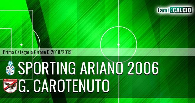 Sporting Ariano 2006 - G. Carotenuto