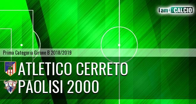 Atletico Cerreto - Paolisi 2000