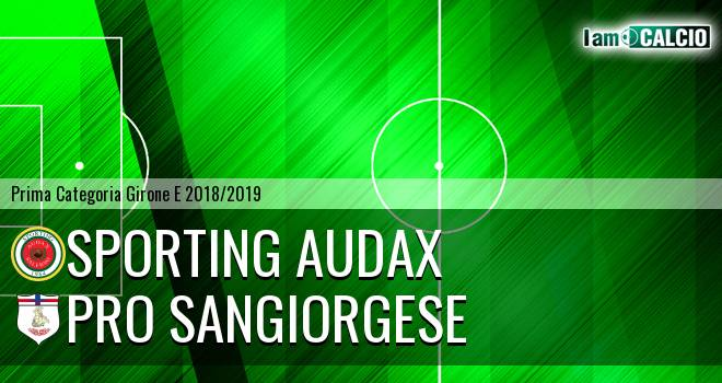 Sporting Audax - Pro Sangiorgese