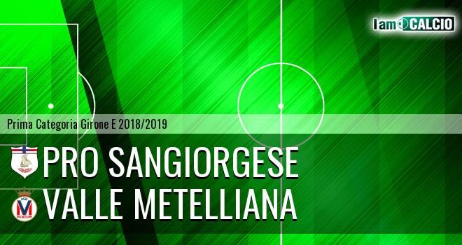 Pro Sangiorgese - Valle Metelliana