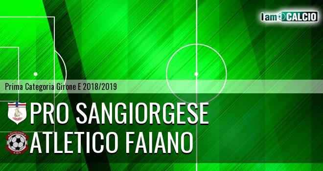 Pro Sangiorgese - Atletico Faiano