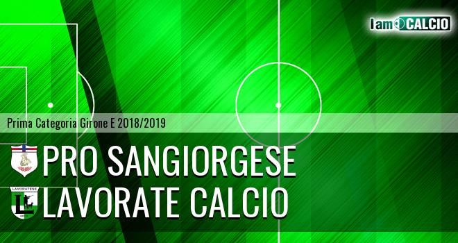 Pro Sangiorgese - Lavorate Calcio