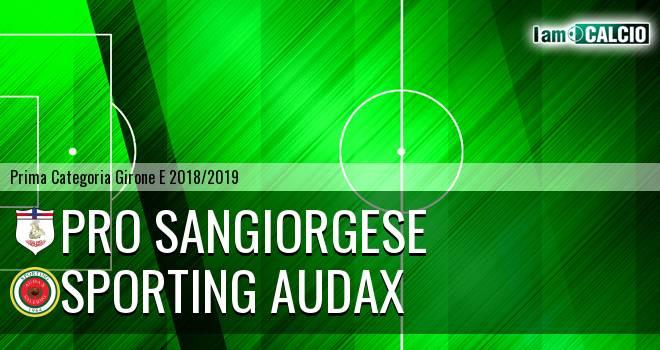 Pro Sangiorgese - Sporting Audax