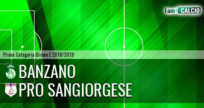 Banzano Montoro - Pro Sangiorgese