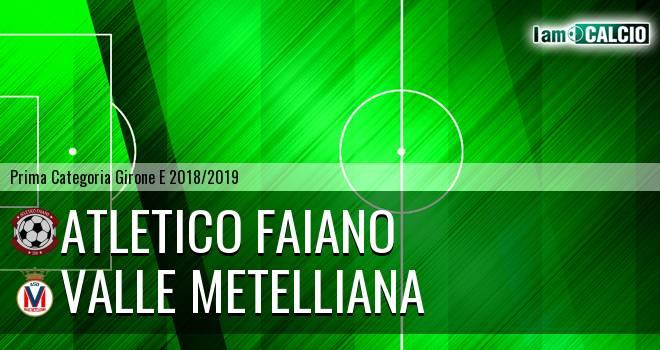 Atletico Faiano - Valle Metelliana