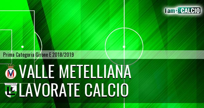 Valle Metelliana - Lavorate Calcio