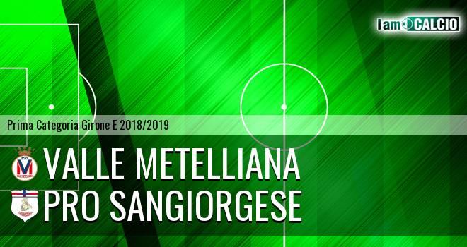 Valle Metelliana - Pro Sangiorgese